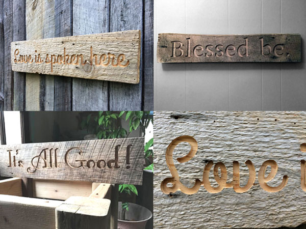 Engraved Slogan Signs