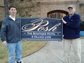 CNC Routed Posh Hotel Sign